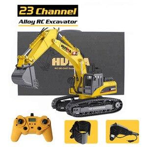 HUINA 580 1:14 23Ch RC экскаватор из сплава, большой RC грузовик, полностью металлический экскаватор на дистанционном управлении, игрушки