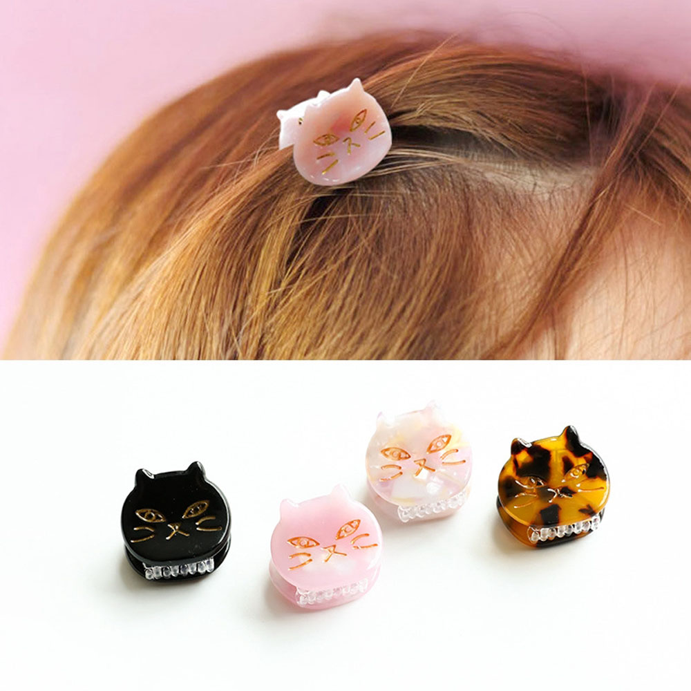 1 шт. заколка для волос в форме кошки уксусная кислота маленький зажим для волос Японский Корейский стиль женские украшения аксессуары для в...