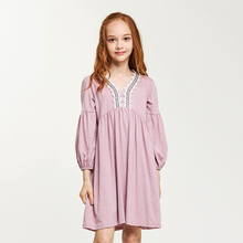 CupofSweet Embroidered Shirt Dress Girls Clothing 2019 Autumn Korean Fashion Long Sleeves Elegant Casual Kids Dresses For Girl
