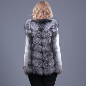 2019 السيدات جديد الطبيعية فوكس الفراء مربع سترة الفراء الحقيقي سترة عارضة الأزياء الأوروبية الخريف والشتاء أسلوب الشارع 2