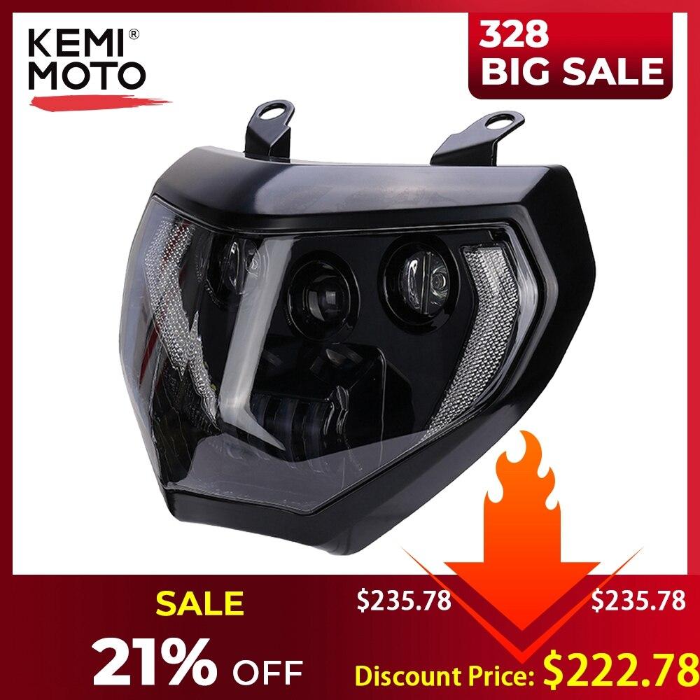 KEMiMOTO MT07 MT09 Headlight LED Lamp MT07 2018 2019 For YAMAHA Headlight MT09 FZ09 2014 2015 2016 DRL 110W