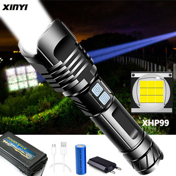 Super XH99 Most Powerful LED Flashlight USB Rechargeable LED Torch XHP90 Tactical Flashlight XHP50 Hand Lamp 26650 Flash Light image