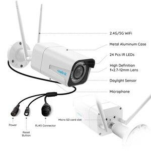 Image 2 - Reolink RLC 511W 2 חבילה WiFi מצלמה 2.4G/5G 4MP/5MP Bullet IP מצלמה 4x זום אופטי SD כרטיס חריץ ראיית לילה 5MP מצלמה