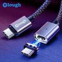 Elough 20V 5A USB type C câble magnétique pour nouveau Macbook Huawei Matebook Xiaomi ordinateur portable téléphone portable rapide PD Charge aimant chargeur