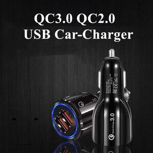 Image 3 - QC 3.0 2.0 شاحن سيارة USB مزدوج للهاتف المحمول شحن سريع آيفون 11 برو ماكس هواوي P30 برو سامسونج أقراص سيارة شاحن