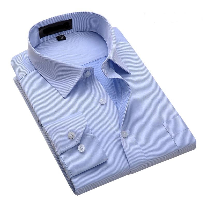2020 New Arrival 8XL 7XL Plus Size Men Work Shirts Brand Long Sleeve Solid Twill Men Dress Shirts Male Shirts 13 Colors DA002