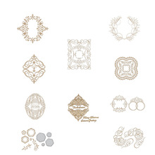 Irregular Glimmer Elegant Hot Foil Plate for DIY Scrapbooking Letterpress Embossing Paper Cards Crafts New 2019