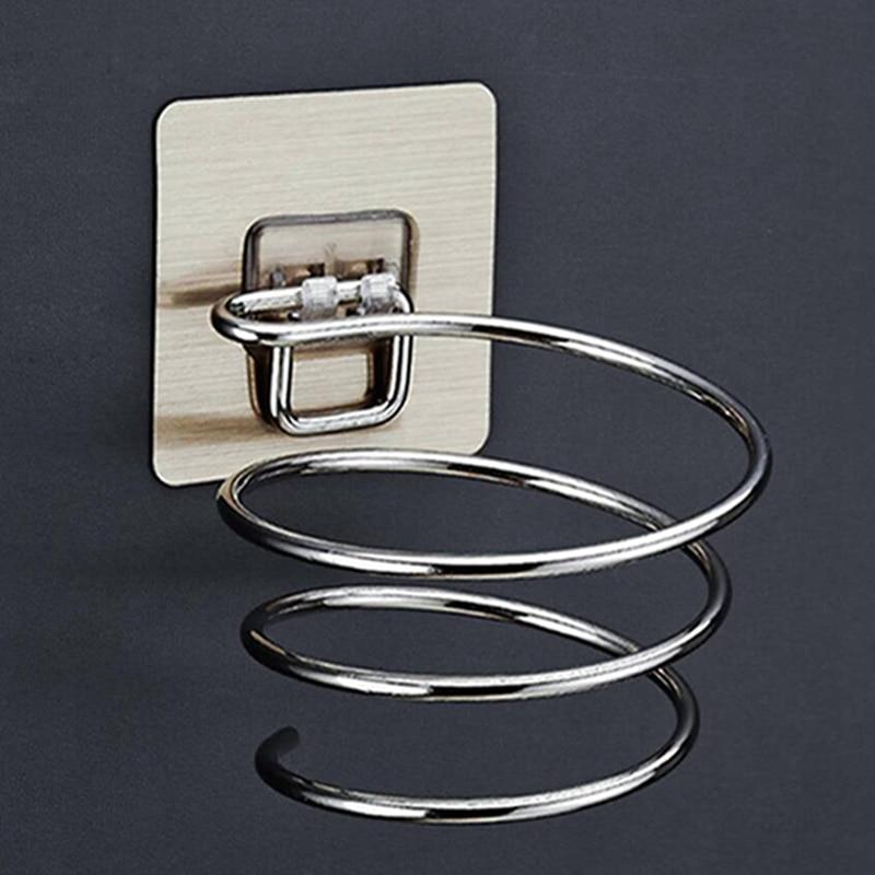 2019 Spiral Wall Mounted Hair Dryer Storage Organizer Rack Holder Hanger Using In Bathroom Salon Stylist Tool Drier Organize