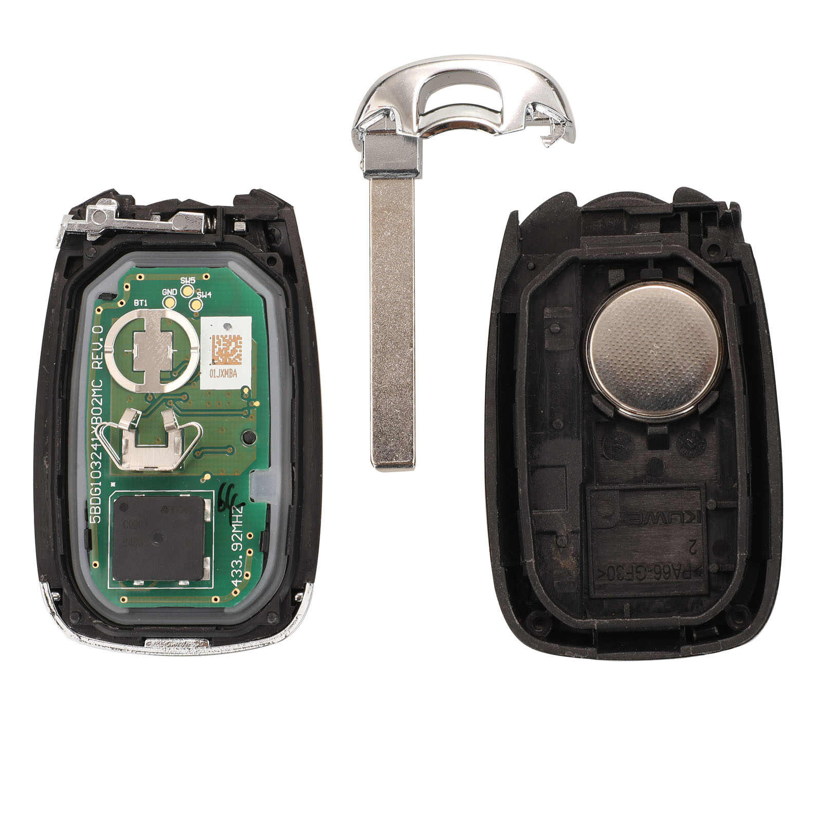Jingyuqin 2 кнопки 433 Мгц дистанционный смарт ключ-брелок для Chevrolet WRL оригинальный JM Trax трекер 4A PCF7938X чип замена
