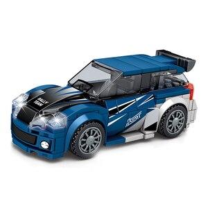 Image 5 - Sembo Block modelo de coche de carreras Speed Champions, la técnica de bloques de construcción, vehículo de ciudad, superracers, deportes, construcción, juguetes, amigos