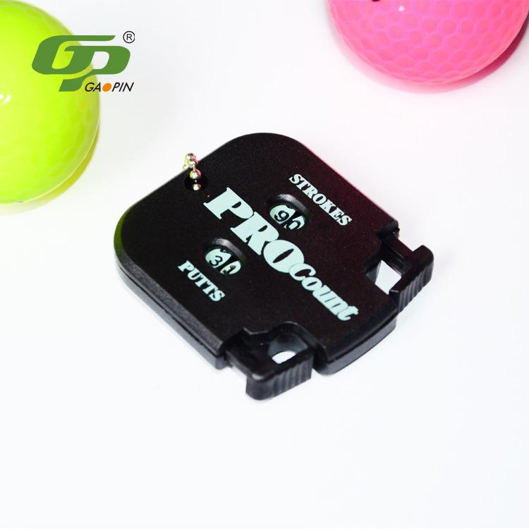 HobbyLane Practical Golf Counter 1 Pc Professional Portable Golf Stroke Shot Putt Score Counter with Key Chain Black Hot Sale in Golf Balls from Sports Entertainment
