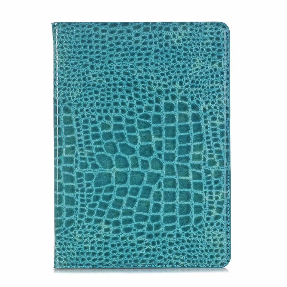 Blue Red Luxury Folio Coque for iPad 7th 10 2 Case Crocodile Map PU Card Slot Stand A2198