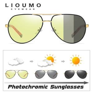 Image 2 - Luftfahrt Sonnenbrille Männer Polarisierte Photochrome Tag Nacht Fahren Sonnenbrille Für Pilot Frauen Brillen UV400 gafas de sol hombre