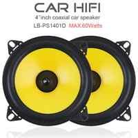 2 uds 60W 4 pulgadas 2 vías de frecuencia de rango completo, Audio estéreo parlante para automóvil, altavoz para automóvil