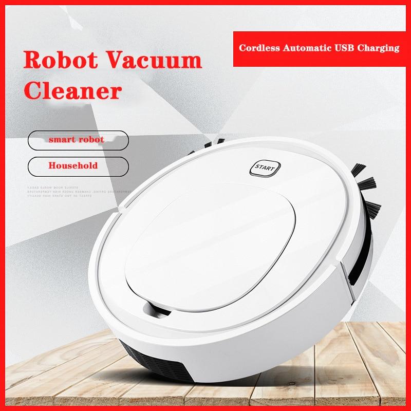 Robot Vacuum Cleaner Cordless Automatic USB Charging Wireless Sweeping Vaccum Robot Carpet Robots Mop Floor Robo Aspirador