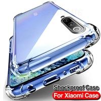 Silikon TPU Fall Für Xiaomi Redmi Hinweis 8 7 9 10 Pro Stoßfest Abdeckung Für Redmi Hinweis 8 9s 9 Pro Max Poco X3 NFC Transparent Fall