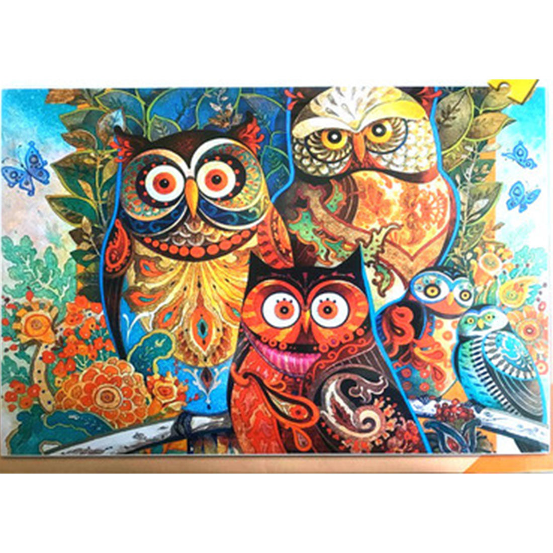 1000Pcs/set General Jigsaw Puzzle Beautiful Pattern Jigsaw Learning Puzzle For Children Adults - Beige Owl