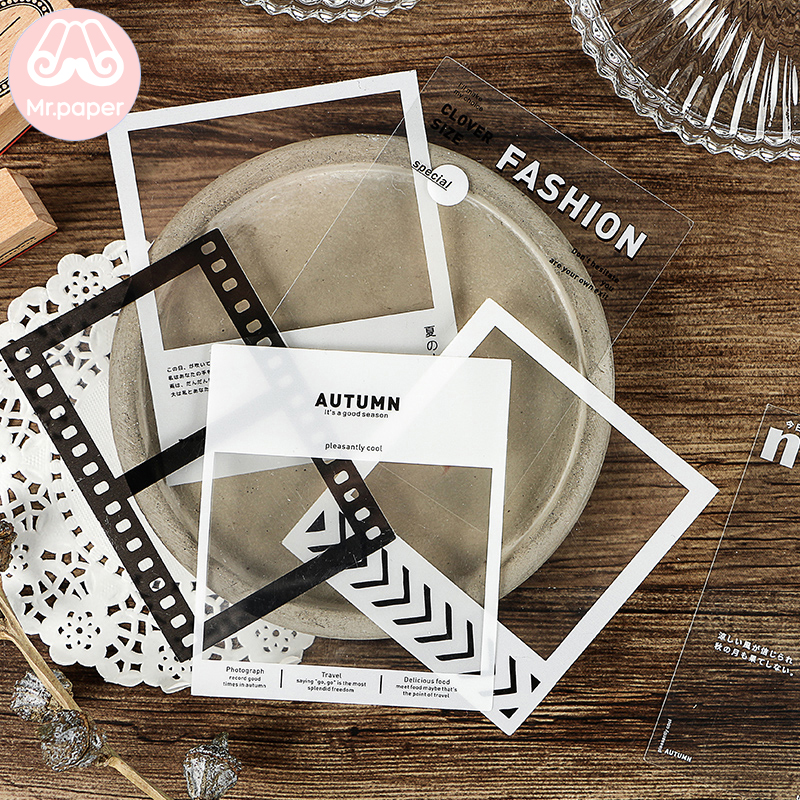 Mr.Paper 2 Designs Film Tree Flower Ice Candy Tea Journal Decorative PET Stickers Scrapbooking Sticky Label Diary Stationery