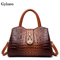Gykaeo зимние европейские и американские стильные уличные сумки-тоуты, сумки, женские сумки известных брендов, сумка через плечо с крокодиловы...