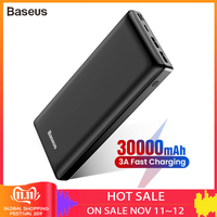 Baseus 30000mah Big Capacity Power bank For Mobile Phone Powerbank Quick Charge 3.0 Type C Power bank For iPhone Samsung