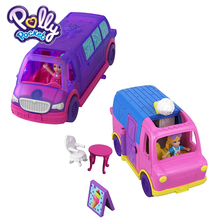 Polly Pocket Brand New Arrical Kid Toys Mini Dolls Funny Bus Pollyville Party Limo GGC39 Two Style Car Toys For Birthday Gift
