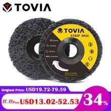 Tovia disco de moagem abrasivo 115mm poly strip disco moedor roda remover ferrugem pintura carro 125mm disco moagem para moedor ângulo