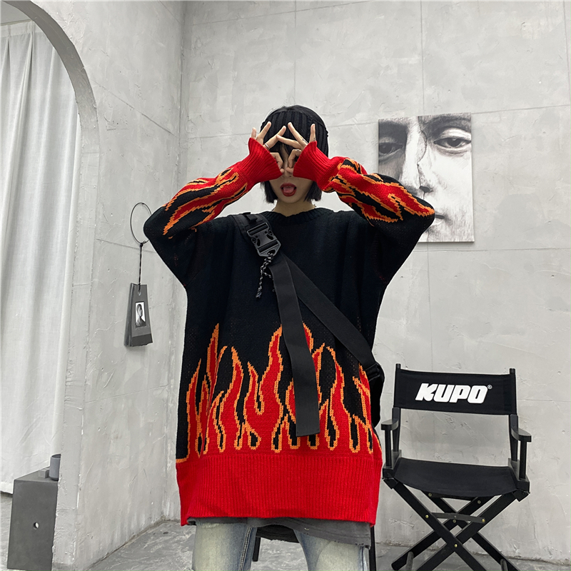 Gagaok-Loose-Harajuku-Women-Sweater-Knit-Top-Spring-Autumn-Flame-Sweaters-Female-Fashion-Long-Outfit-Pullovers (2)