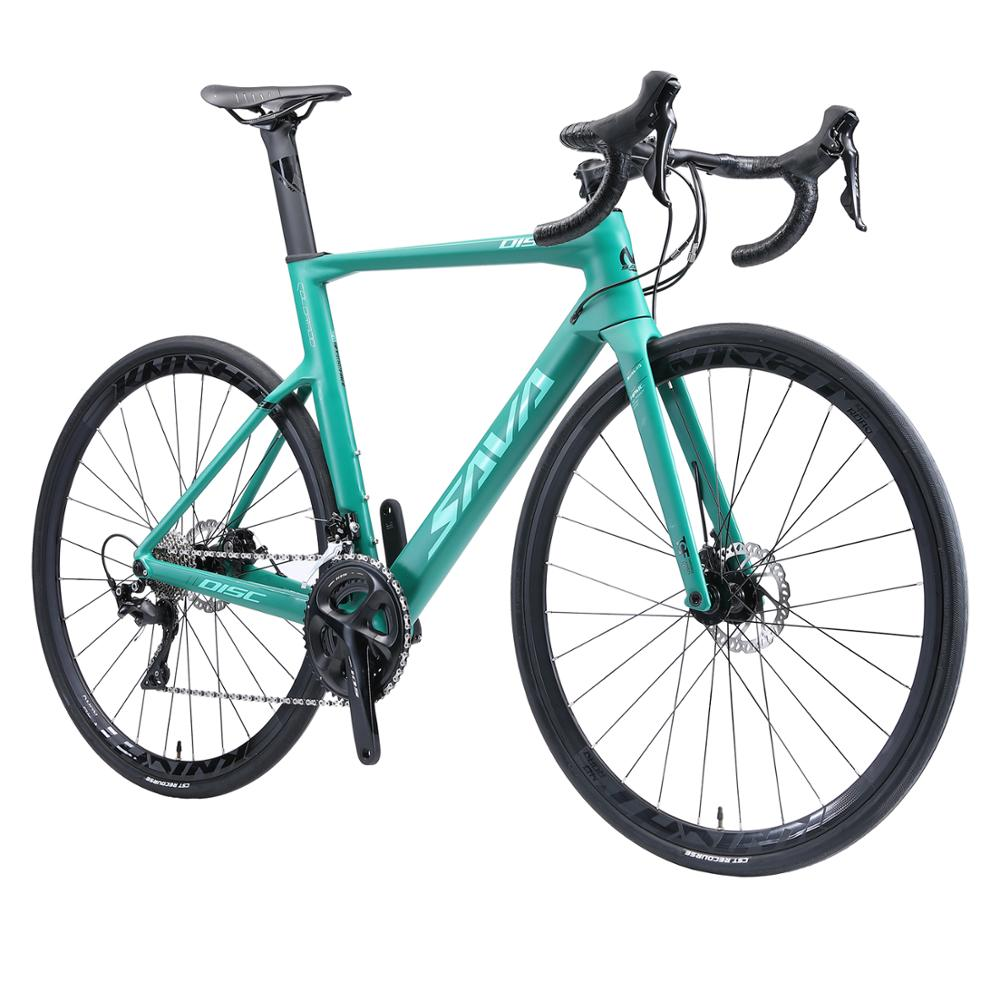 SAVA Road Bike Carbon Road Bike 700c Disc Brake Road Racing Bike with SHIMANO 105 R7000 22 Speeds Carbon Bicycle Racing bike title=