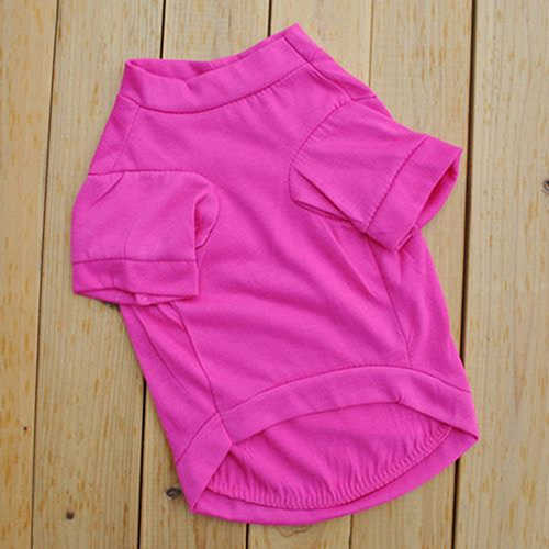 1Pc Breathable Rose-red Lip Pet Dog T-shirt Small Cat Puppy Spring Summer Shirt Vest Clothes