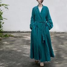 Johnature donna Vintage cotone lino Trench fasciatura cappotti bottone manica lunga 2021 autunno nuovo solido femminile Trench stile cinese
