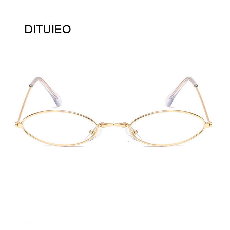 Glasses Frame Classic Round Women Men Metal Frame Optical Glasses Transparent Computer Oval Small Eyeglasses Frame Reading
