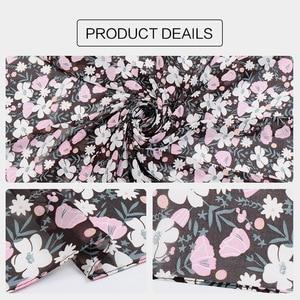 Image 3 - 115cm Printe chiffon Platz hijab schal chiffon wraps blume schals muslimischen leichte stirnband wraps islamischen schals 10 teile/los