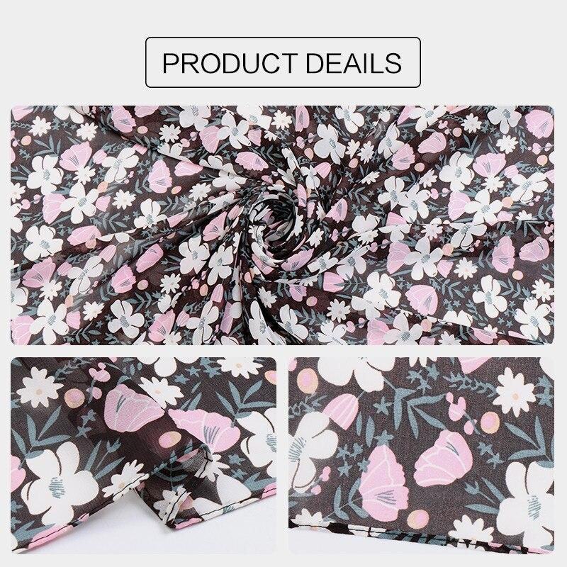 Image 3 - 115cm Printe chiffon Square hijab scarf chiffon wraps flower shawls muslim lightweight headband wraps islamic scarves 10pcs/lot-in Women's Scarves from Apparel Accessories