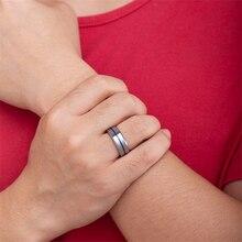 купить Ailodo Silver Tungsten Carbide Rings For Men Luxury Wedding Engagement Men Ring Fashion Jewelry Gift 8MM Wide Anillos AL002 дешево
