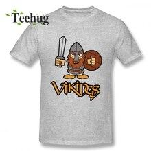 Hot Sale Vikings Character T Shirt Man Funny Unique Design For Boy O-neck T-Shirt