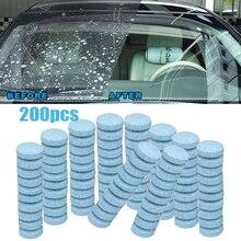 20/50/100/200 pces carro sólido mais limpo efervescente comprimidos spray limpador de vidro janela do carro pára brisa limpeza acessórios automóveis