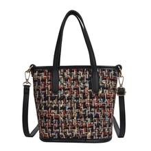 цены на bags for women 2019 Shoulder Bags luxury handbags women bags designer crossbody bags Colorful woolen Large Capacity Tote Bag в интернет-магазинах