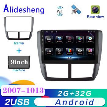 2 Din Android For Subaru Forester Impreza 2008 2009 2010 2011 2012 2013 android Car DVD Multimedia Player Stereo radio image