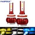 PAMPSEE H7 Led H4 Led H11 светильник фары H3 H1 светодиодные фары HB3 HB4 9005 9006 H8 H9 светодиодные лампы 12 В 8000K 6000K лампа 3000K