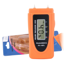 Mini Moisture Meter Digital Wood 5-40% 2pins LCD Woodworking Bamboo Tobacco Paper Water Content Tester Measuring Tool
