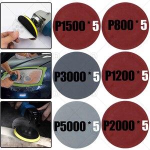 Image 1 - Discos de lixamento almofada abrasivo polonês roda de madeira conjuntos de papel lixamento reparação do farol carro polimento restauração lixa kits