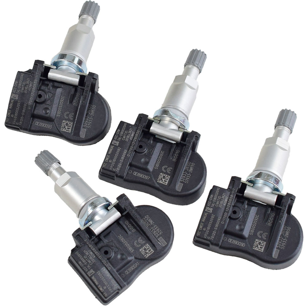 4Pcs New Tire Pressure Monitor System Sensor 52933-3N100 <font><b>529333N100</b></font> Car TPMS For Kia Sorento Rio 433Mhz Car Auto Accessories image