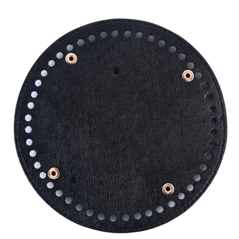 2019 New DIY Shoulder Crossbody Bags Accessories Round Leather Bottom With Holes Rivet For Knitting Bag Handbag