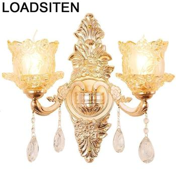 Mirror Sconce Loft Decor Modern Lamp Wandlamp Applique Murale Luminaire Crystal Lampara De Pared Interior Wall Bedroom Light