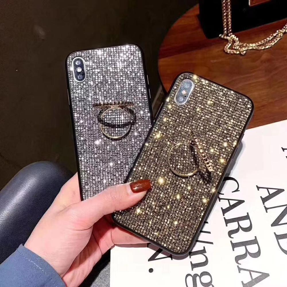 Bling Lattice Stand <font><b>Cases</b></font> For <font><b>Samsung</b></font> Note10 Plus S10e S10 Plus Note9 Note8 S9 <font><b>S8</b></font> A10 M10 A20 A30 A50 A70 M20 M30 A80 A90 Cover image
