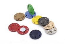 3 pçs poderoso metal escondido fivela botão ímã fivela magnética fivela casaco invisível saco magnético ímã fivela ultra-fino