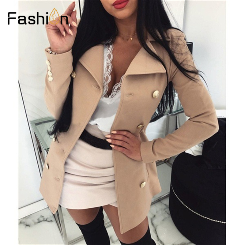 Plus Size 5XL Autumn Women Blazers And Jackets Work Office Lady Suit Slim Double Breasted Business Female Blazer Coat Talever