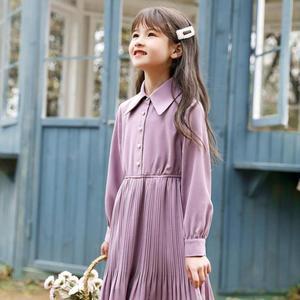 Весеннее длинное платье принцессы 2020, платья для девочек-подростков с длинным рукавом, ТРАПЕЦИЕВИДНОЕ ПЛАТЬЕ для больших детей, модная повс...