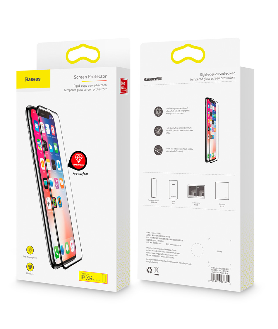 Baseus 0.3mm Full Coverage Tempered Glass For iPhone Xs Xs Max XR 2018 Screen Protector Thin Protective Glass For iPhone X Xs XR Hc46f65bf1077410c8db340142359a66aW