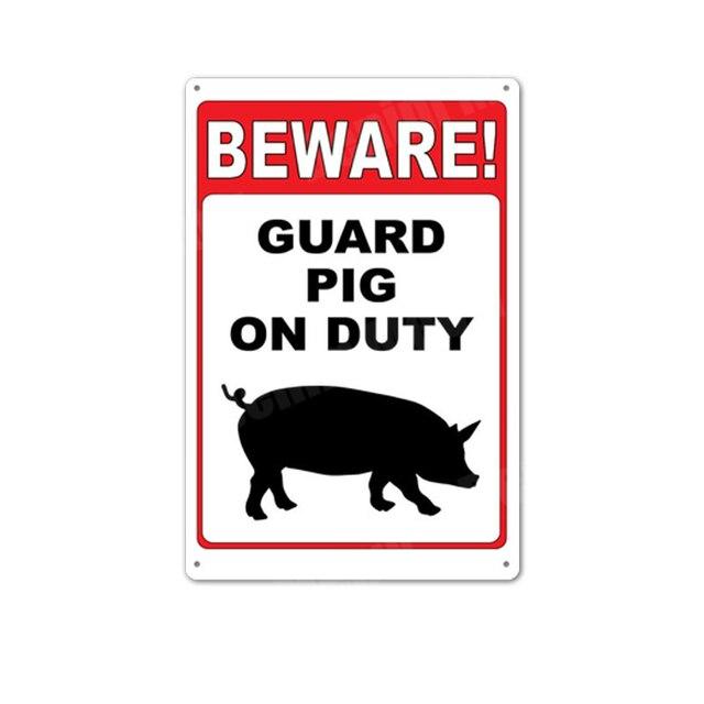 Avertissement Méfiez-vous de l/'écureuil rouge gris Plaque Métal Tin Signer d/'autres en vente 2487